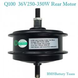Q100 36V250W-350W Rear Driving EBike Hub Motor