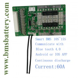 Smart BMS 10S~15S 60A with Blue tooth Android APP