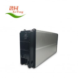 48V10Ah LiFePO4 Alloy 03-CASE EBike Battery With a Carrier Rack