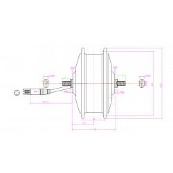Q70 36V250W Front Driving V-Brake Hub Motor