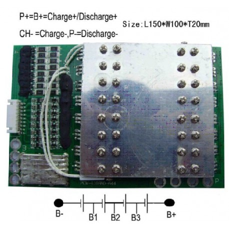 4S LiFePO4 BMS for 4 cells in series