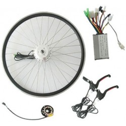 Q100 36V250W-350W Front E-Bike Kit with LED Meter