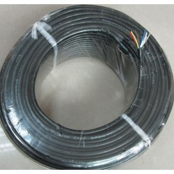 A rol of 100 Meter 24AWG 5 Wires PVC Cable for E-Bike