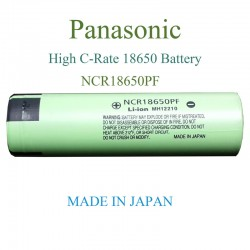Panasonic High Capacity 18650 Battery Cell NCR18650PF