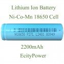 Lithium Ion Battery 18650 Battery Cell 2200mAh