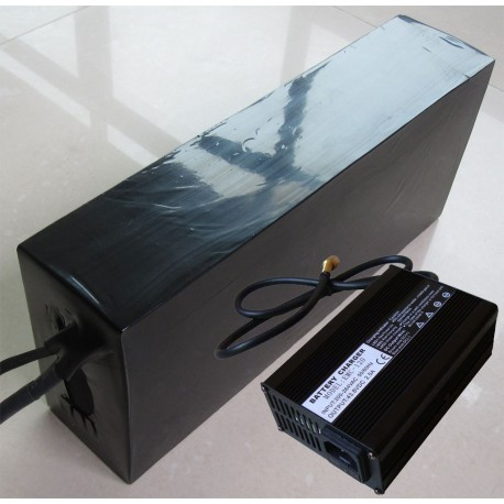36V10Ah Lithium Ion Electric Bicycle Battery Pack AC Voltage 100~132VAC